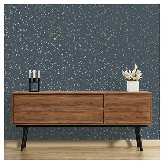 Celestial Peel and Stick Wallpaper Navy/Gold - Opalhouse™
