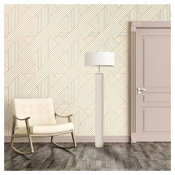 Devine Color Ribbon Peel and Stick Wallpaper - Lightning and Karat