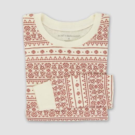 Burt's Bees Baby® Kids' Organic Cotton Fair Isle Pajamas - Ivory ...