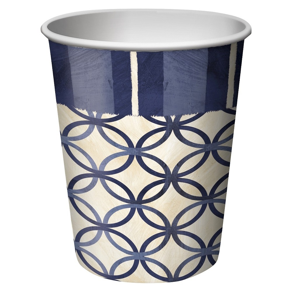 8ct Blue Nautical 9oz Paper Cups