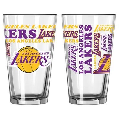 NBA Los Angeles Lakers Boelter 16oz Spirit Pint Glass 2pk