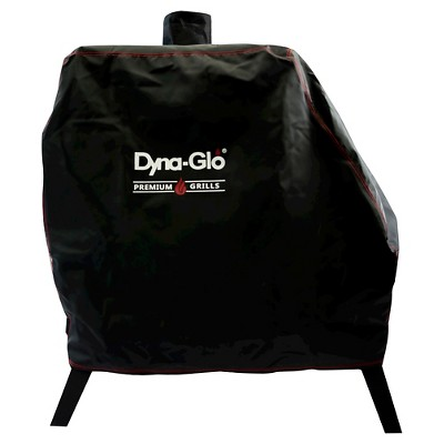 Premium Vertical Offset Charcoal Smoker Cover - Black - Dyna Glo