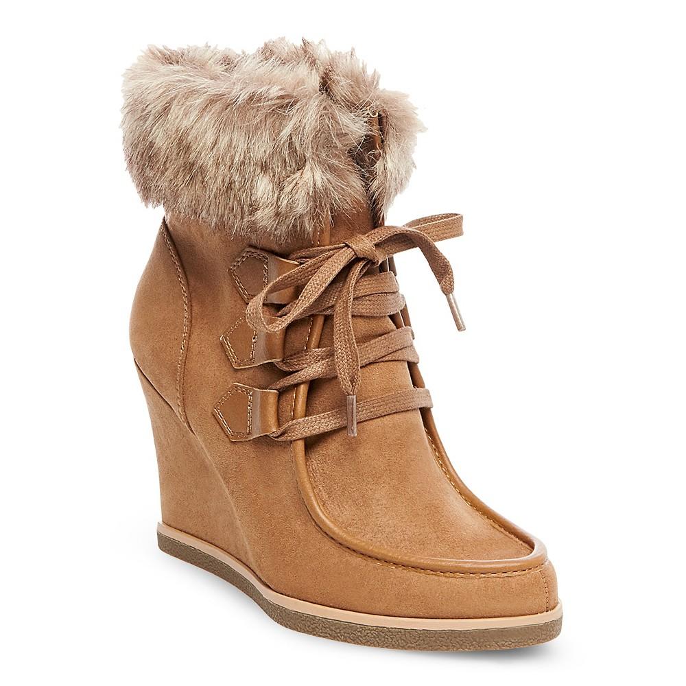 Womens Jaden Shearling Style Boots - Merona Tan 8.5