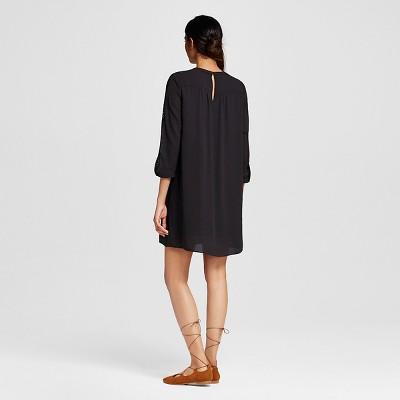 Women's Lace Shift Dress Black M - Mossimo
