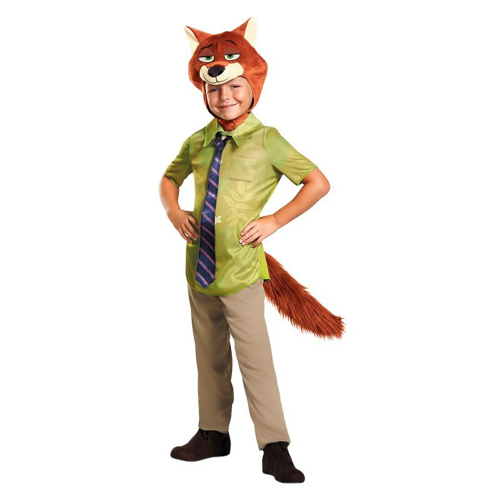 Zootopia Boys Nick Wilde Costume - Small (4-6), Size: S(4-6), Multi-Colored