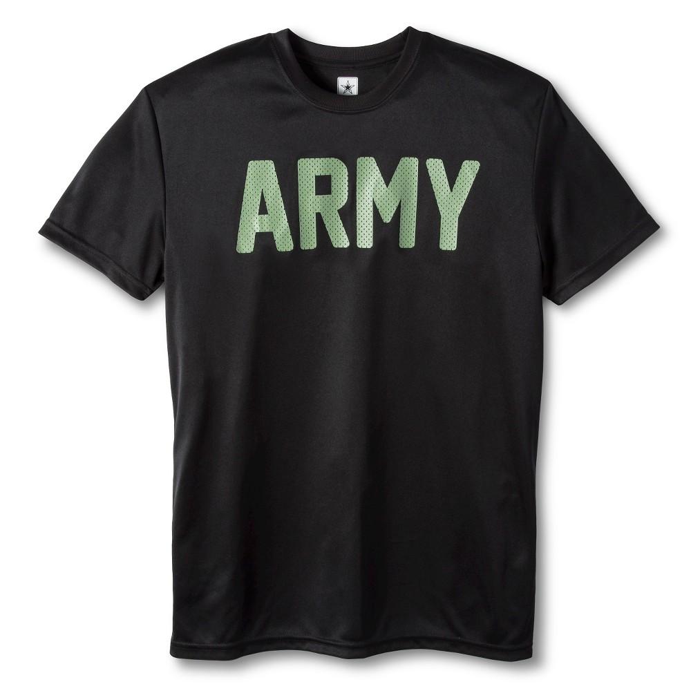 Mens Army performance tee Black XL