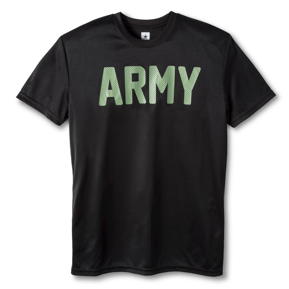 Mens Army performance tee Black Xxl