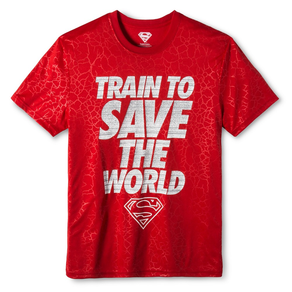 Mens Superman active tee Red XS