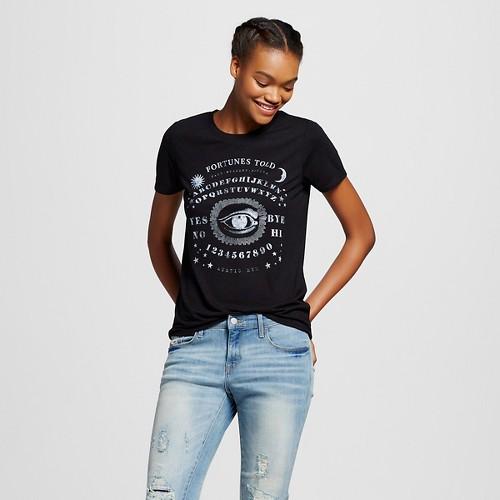 Women's Mystical Eye Graphic Tee Black S - Modern Lux