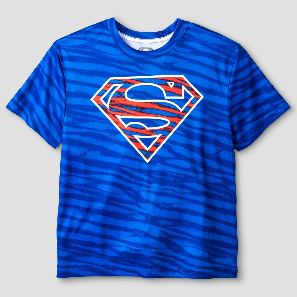 Warner Bros. Boys Performance Superman T-Shirt - Blue XL