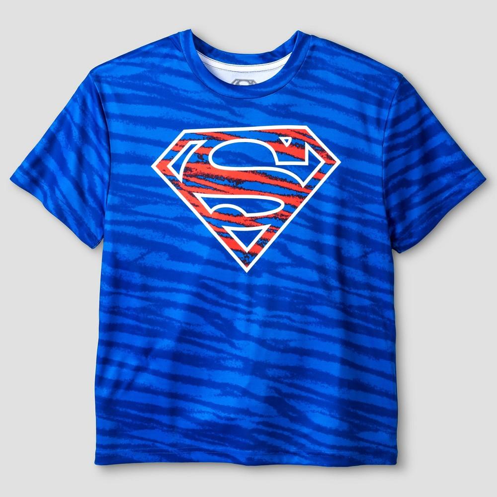 Warner Bros. Boys Performance Superman T-Shirt - Blue XS