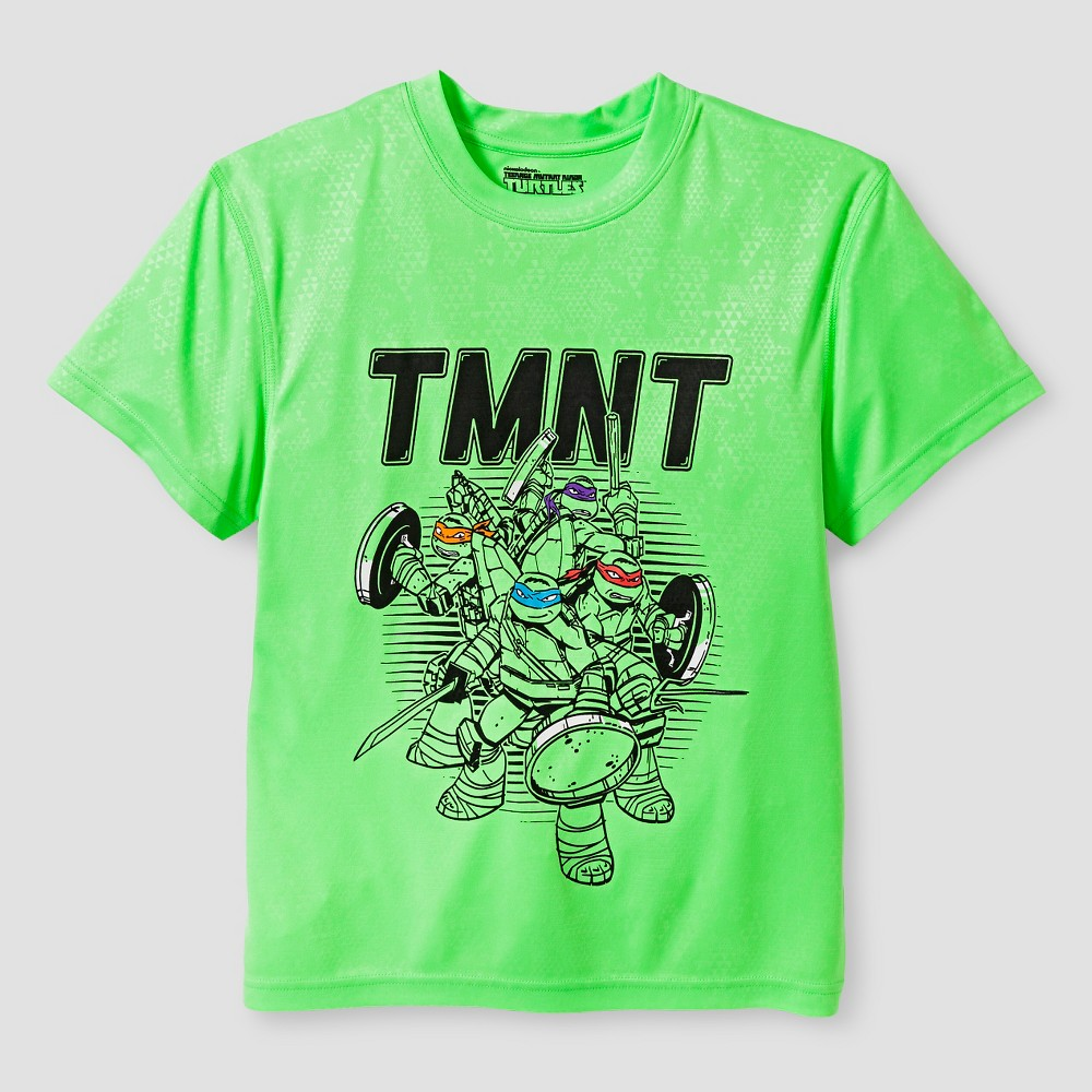 Nickelodeon Boys Performance Tmnt T-Shirt - Green XS