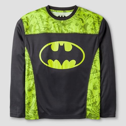 Warner Bros. Boys' Performance Batman Long Sleeve T-Shirt - Yellow M, Boy's, Black