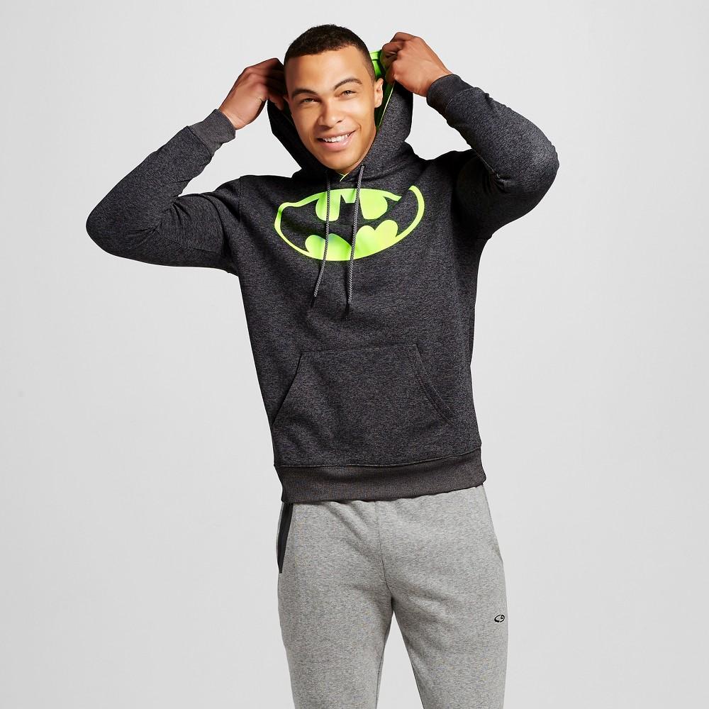 Mens Batman Chunky Pullover Fleece Black XS