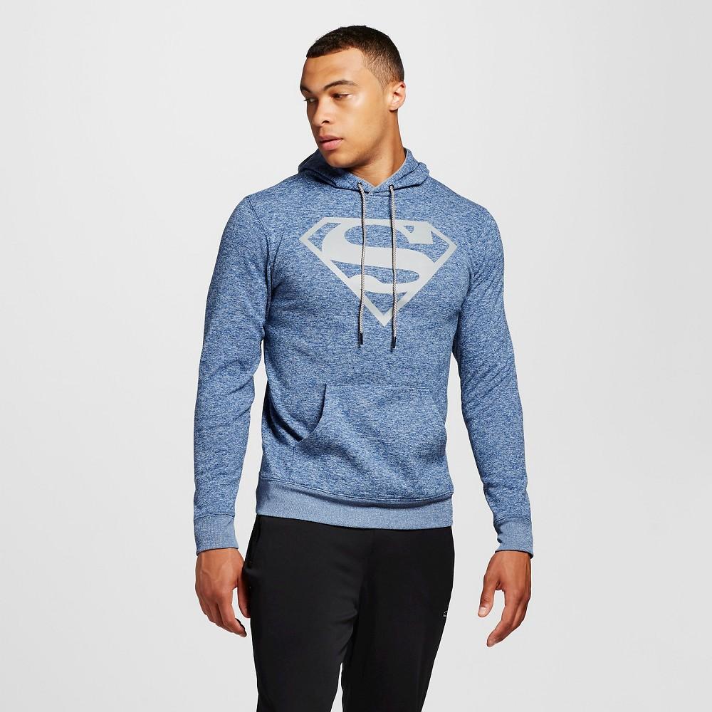Men's Superman Chunky Pullover Fleece Navy XL, Blue
