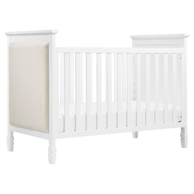 DaVinci Lila 3-in-1 Convertible Upholstered Crib - White
