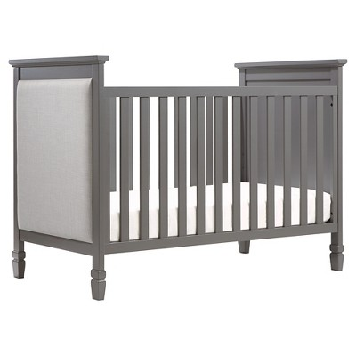 DaVinci Lila 3-in-1 Convertible Upholstered Crib - Slate with Pebble Gray Fabric Finish