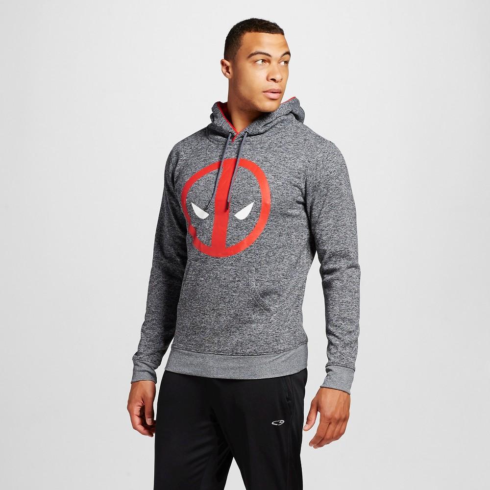Mens Deadpool Chunky Pullover Fleece, Size: Large, Black