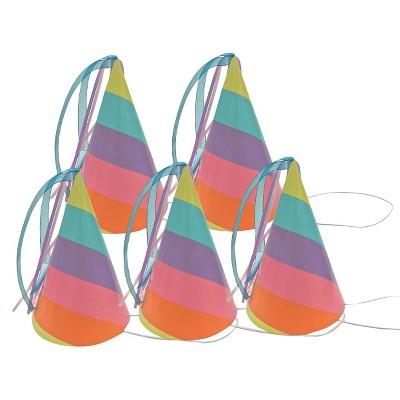 Rainbow Party Hat 5 Count - Spritz™