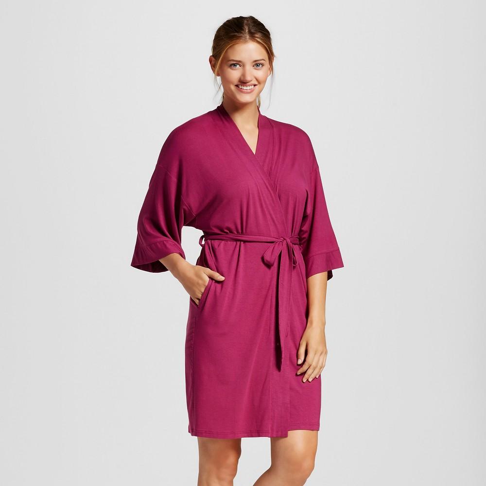 Womens Pajama Total Comfort Kimono Wrap Robe - Elegant Cherry XL/Xxl