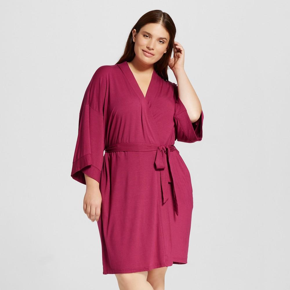 Womens Robes - Elegant Cherry 1X