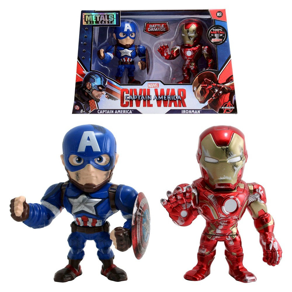 Metals - 4 figures - Captain America and Iron Man twin pack - M51