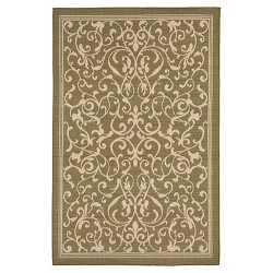 Terrace Scroll Vine Green Rug - Liora Manne