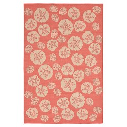 Terrace Shell Toss Coral Rug - Liora Manne
