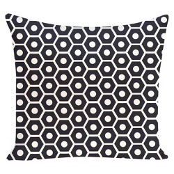 Honeycomb Pop Print Throw Pillow - E by Design