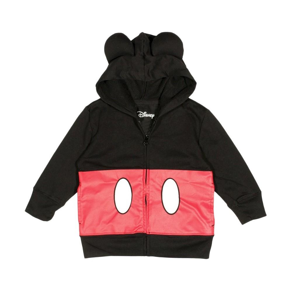 Boys Mickey Mouse Sweatshirt - Black/Red L