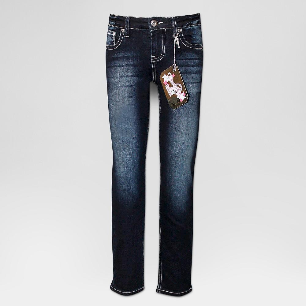 Plus Size Girls' Seven7 Sequin Star Pocket Skinny Jean – Blue 16Plus, Girl's, Size: 16 Plus