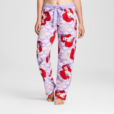 6ee1ce58e748 Disney Juniors Little Mermaid Ariel Plush Fleece Pajama Pants ...