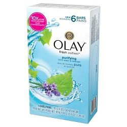 Olay Fresh Outlast Purifying Birch Water & Lavender 6-Bar Soap - 24oz