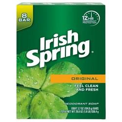 Irish Spring Deodorant Soap Original Bar Soap - 8ct