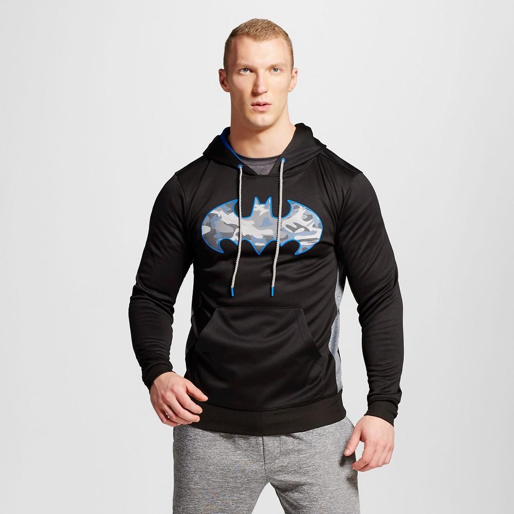 Mens Batman Pullover Poly Fleece, Size: XL, Black