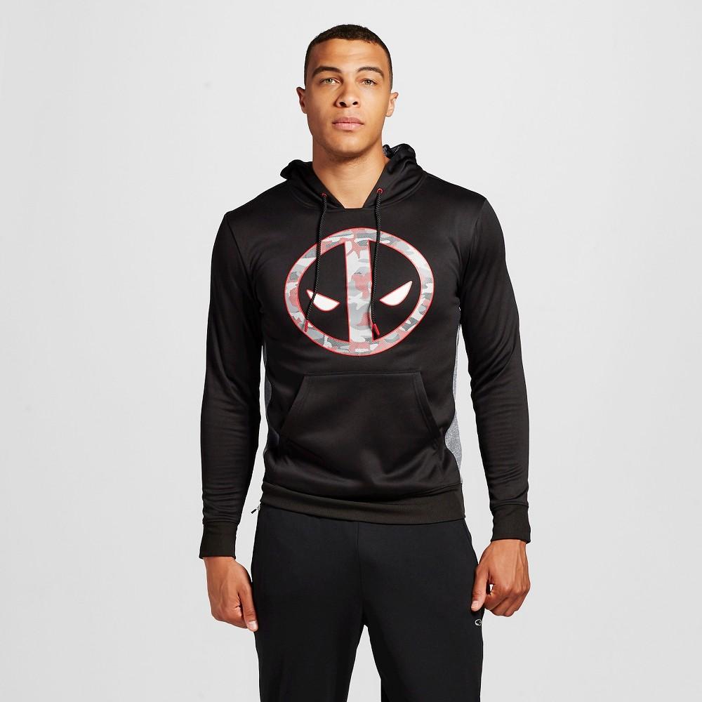 Men's Deadpool Pullover Poly Fleece Black Xxl