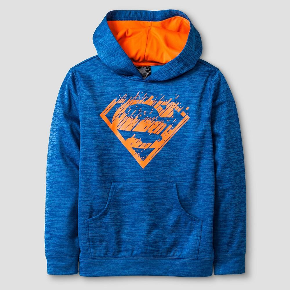 Warner Bros. Boys' Performance Superman Pullover - Blue L