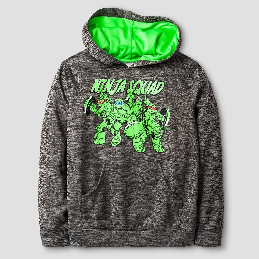 Nickelodeon Boys' Performance Ninja Turtles Pullover – Grey XL, Boy's, Gray