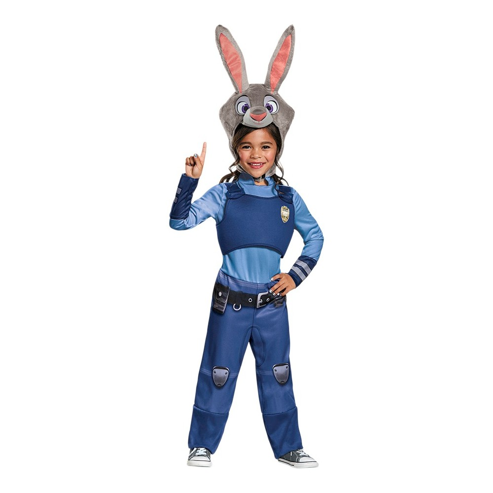 Zootopia Girls Judy Hopps Costume - 3-4T, Size: 3T-4T, Multi-Colored