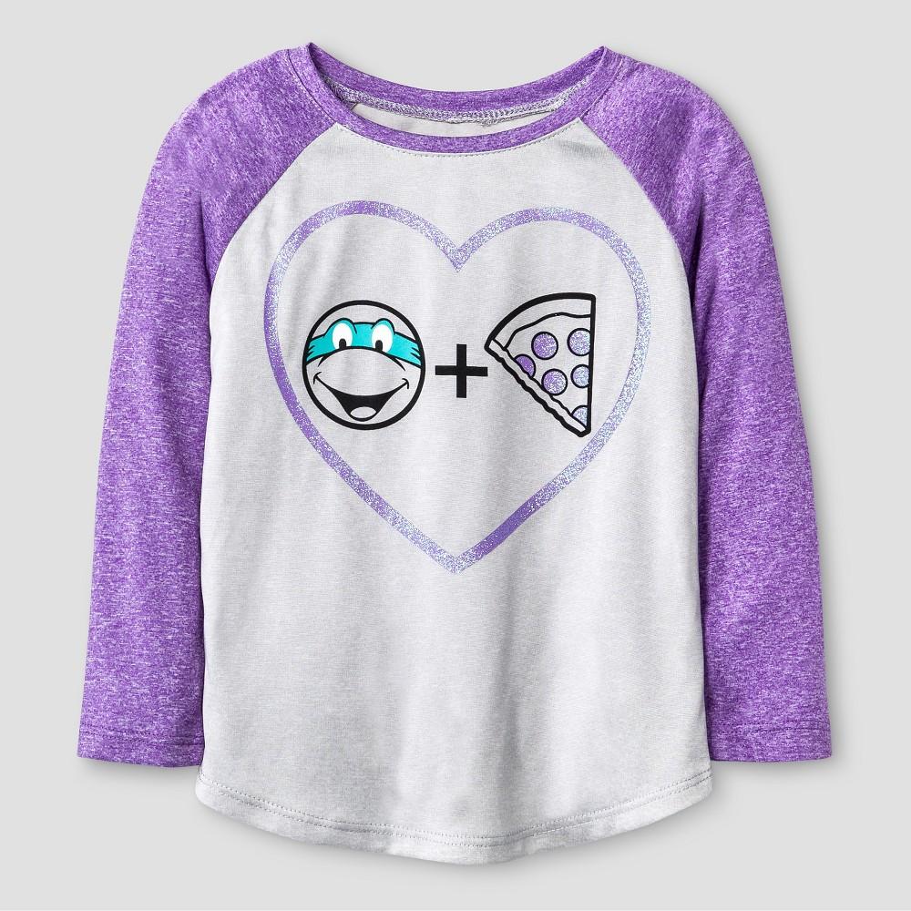 Toddler Girls' Teenage Mutant Ninja Turtles Active T-Shirt 4T – Heather Grey, Toddler Girl's, Gray Purple