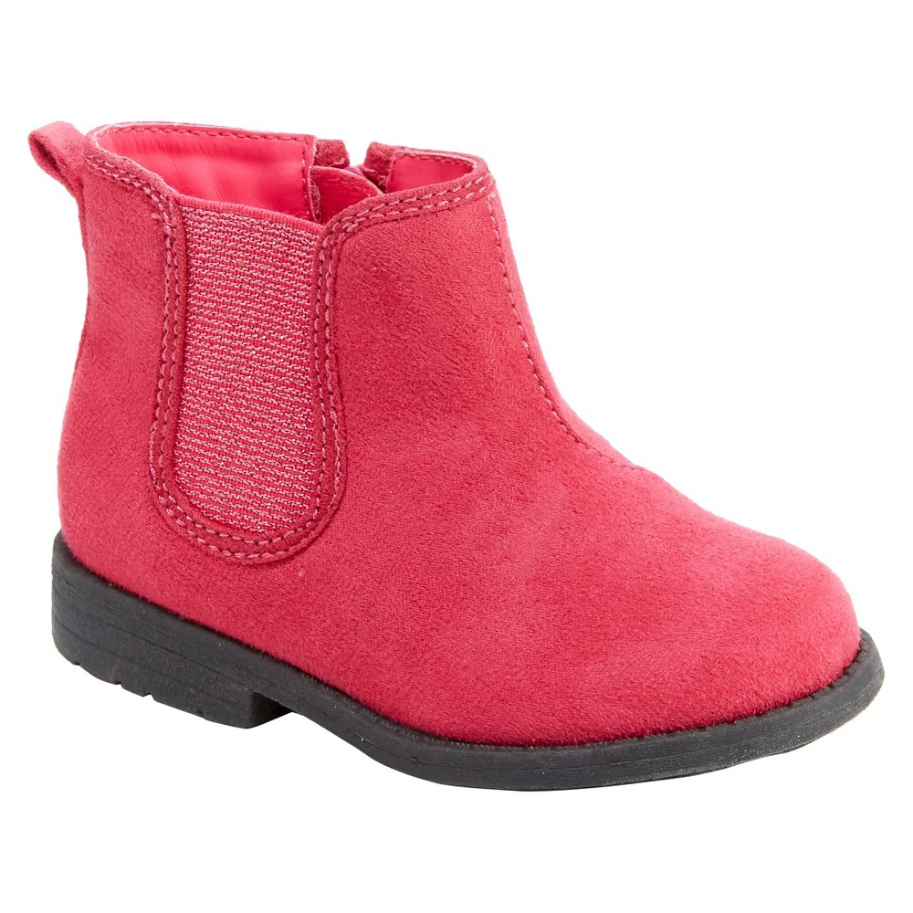Toddler Girls' Faith Booties - Just One You Made by Carter's Pink 7