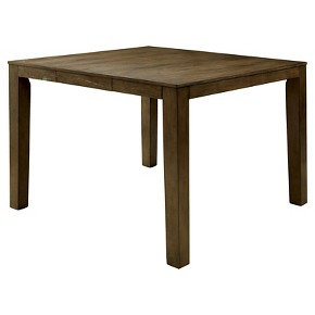 7 Piece Modern Bold Counter Height Table Set Weathered