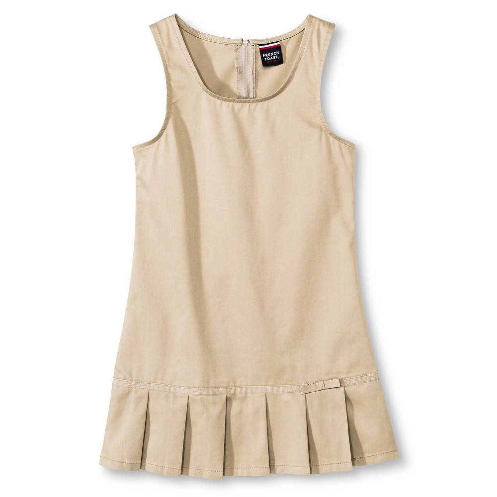 French Toast Girls Pleated Hem Jumper - Khaki (Green) 16
