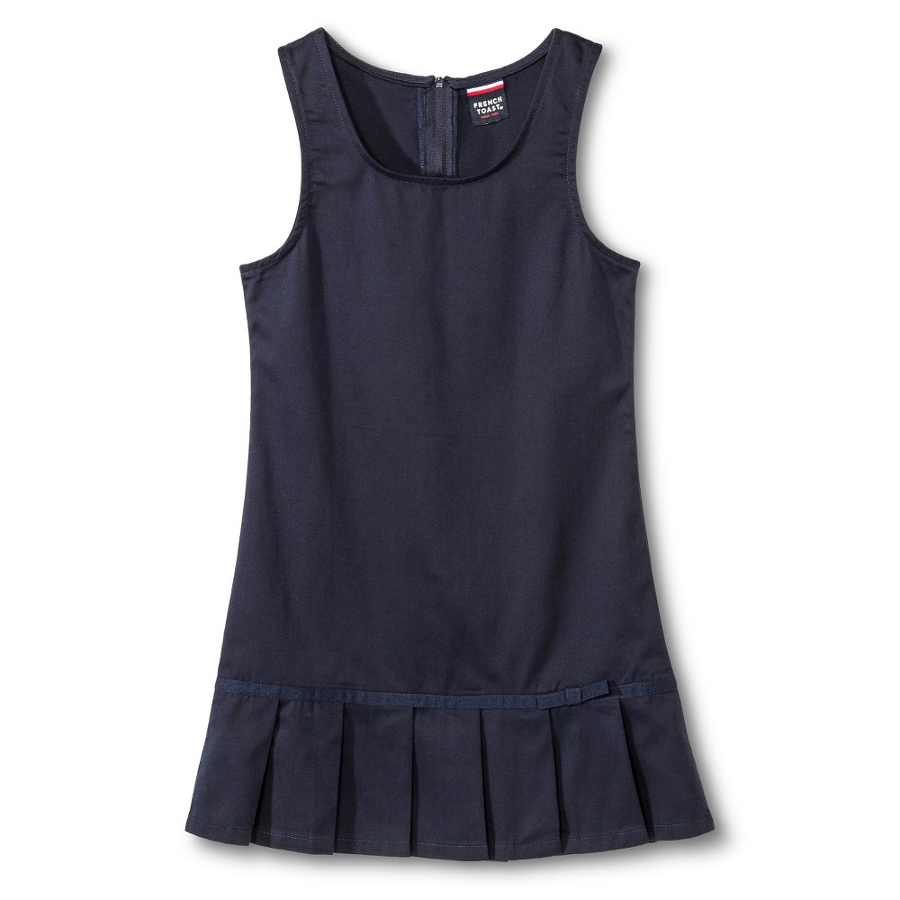 French Toast Girls' Pleated Hem Jumper - Navy (Blue) 18