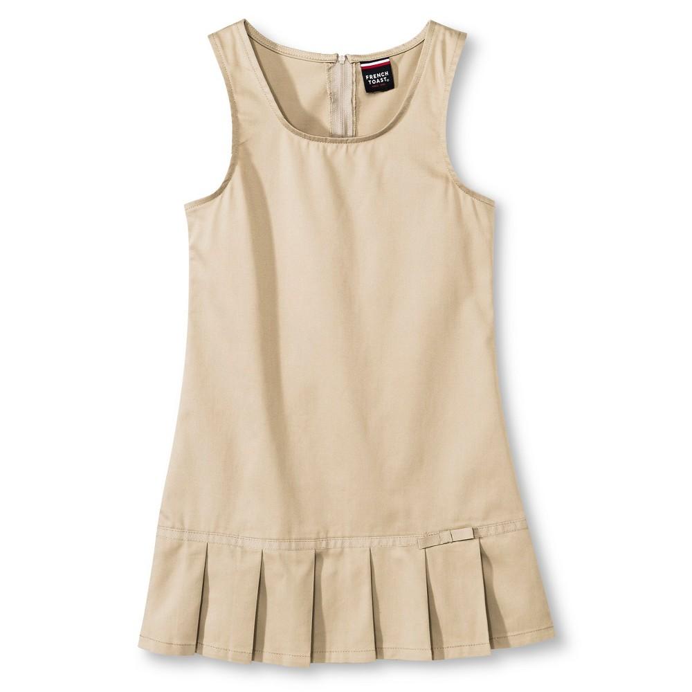 French Toast Girls Pleated Hem Jumper - Khaki (Green) 18