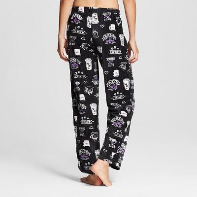 sR2 by sleep Riot Women's Rise & Shine Print Microfleece Pajama Pant - Black L, Jet Black