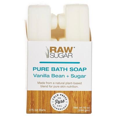 Raw Sugar Vanilla Bean Sugar Pure and Natural Bar Soap - 10oz