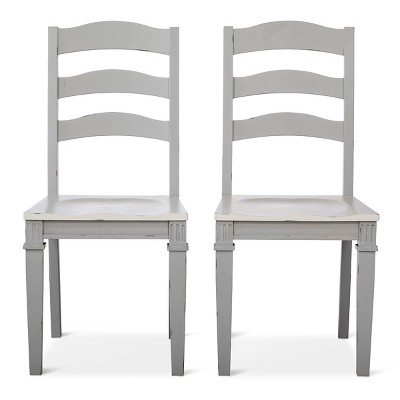 Westville Distressed Wood Dining Chair - Gray (Set of 2)- Beekman 1802 FarmHouse™