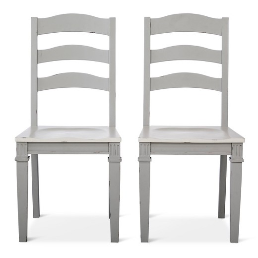 Westville Distressed Wood Dining Chair - Gray (Set of 2) - Beekman ...
