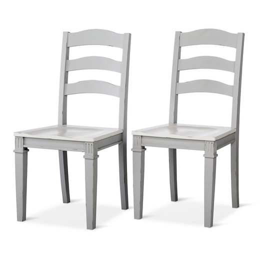 Wood Dining Chairs westville distressed wood dining chair - gray (set of 2) - beekman
